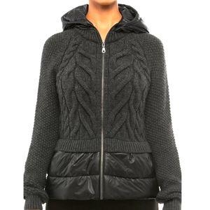 ANATOMIE Knit Puffer Hoodie Jacket